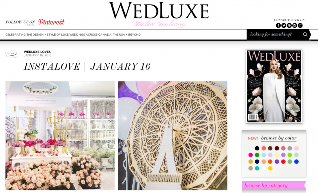 Stephanie Fusco featured WedLuxe 2015