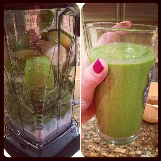 green monster vitamix - stephanie fusco