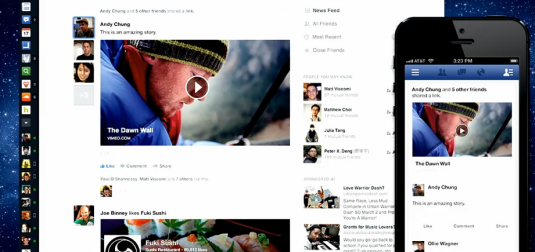 new Faceboko Newsfeed design