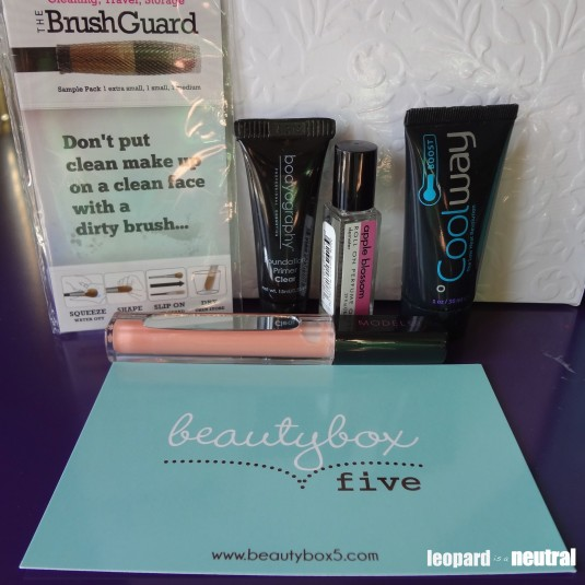 Beauty Box 5 review - April Contents - Leopard is a Neutral