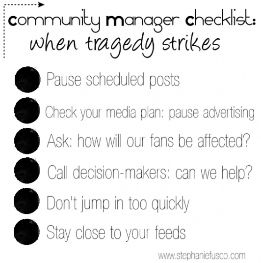 Community Manager Checklist - When Tragedy Strikes - Stephanie Fusco