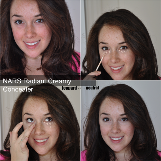 NARS Radiant Creamy Concealer - before & after swatches - Stephanie Fusco - Leopard Is A Neutral