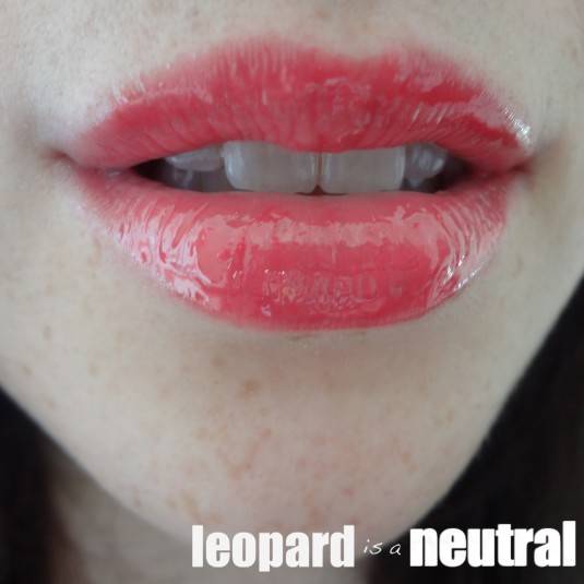 NARS Summer 2013 - Paris Follies Larger Than Life Lipgloss - Swatch Review - Leopard is a Neutral