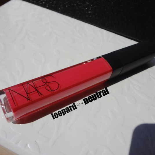 NARS Summer 2013 - Paris Follies Larger than Life Lipgloss - Swatch Review - Packaging - Leopard is a Neutral
