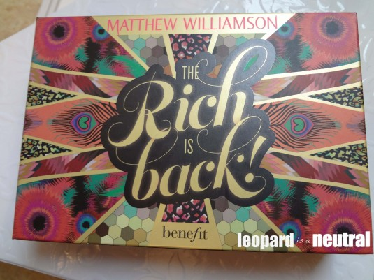 Benefit Cosmetics x Matthew Williamson The Rich is Back palette - Leopard is a Neutral