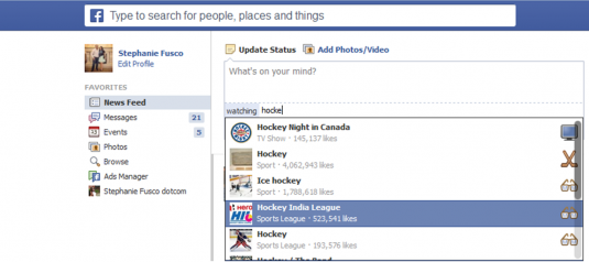Facebook - what are you watching