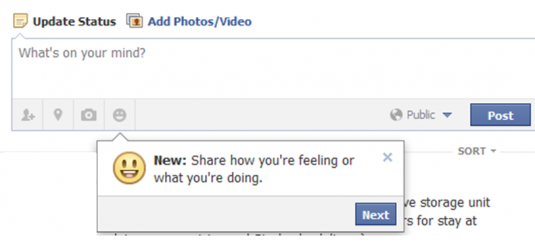 Facebook - what you're feeling how you're doing