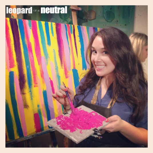 Leopard is a Neutral - Paintlounge party - Stephanie Fusco