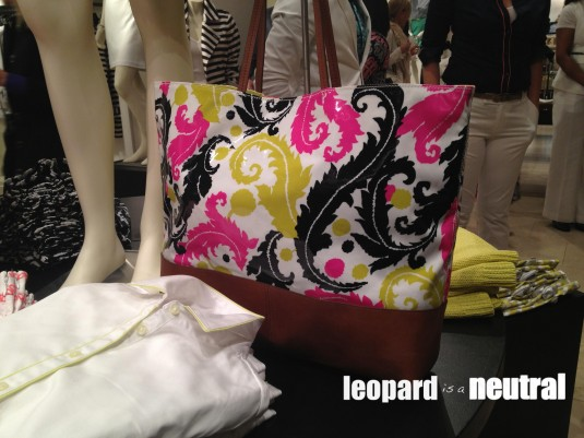 Milly for Banana Republic - tote bag leather and print - Leopard is a Neutral