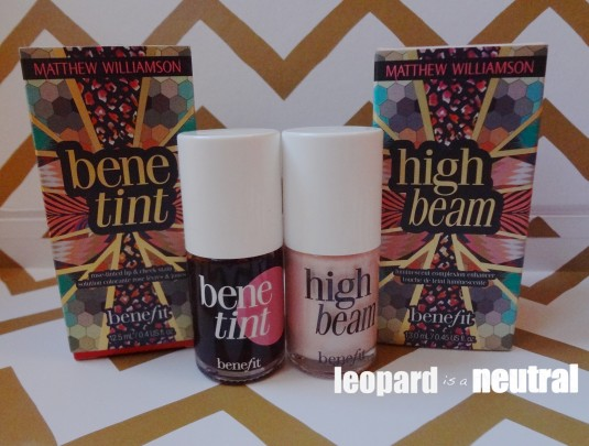 Benefit Cosmetics HighBeam and Benetint Contest Matthew Williamson - Leopard is a Neutral
