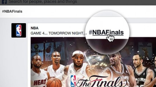 Facebook Hashtags Clickable NBA