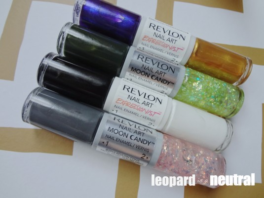 Revlon Nail Art polishes - Moon Candy Expressionist - leopard is a neutral