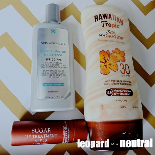SPF essentials - Skinceuticals, Fresh, Hawaiian Tropic
