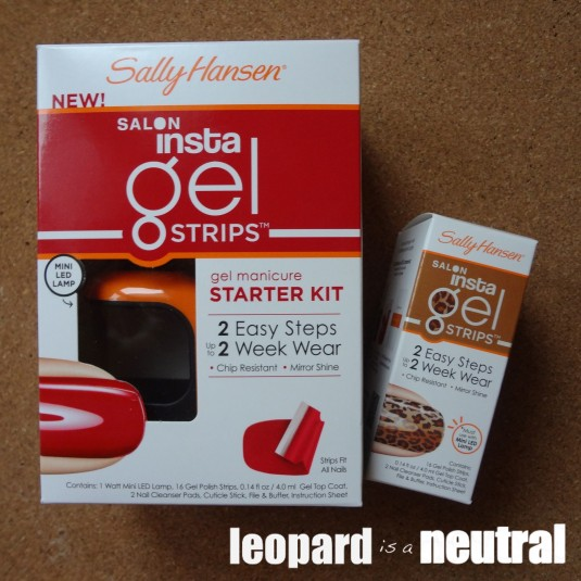 Sally Hansen Insta Gel Strips Kit and Refill - Leopard is a Neutral