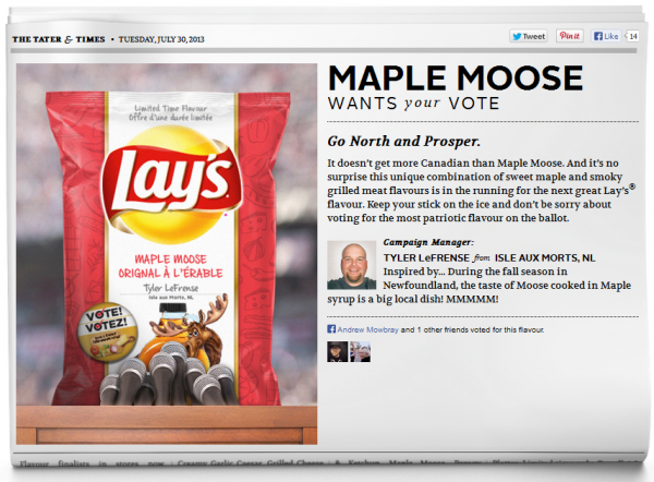 Lay's Maple Moose
