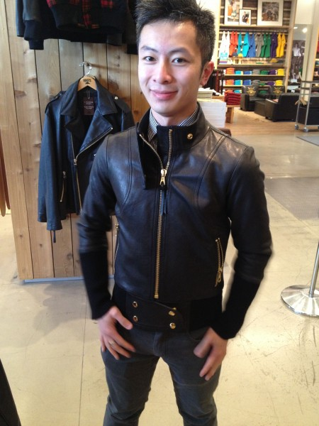 Marcus Kan Smythe Roots Collaboration leather jacket