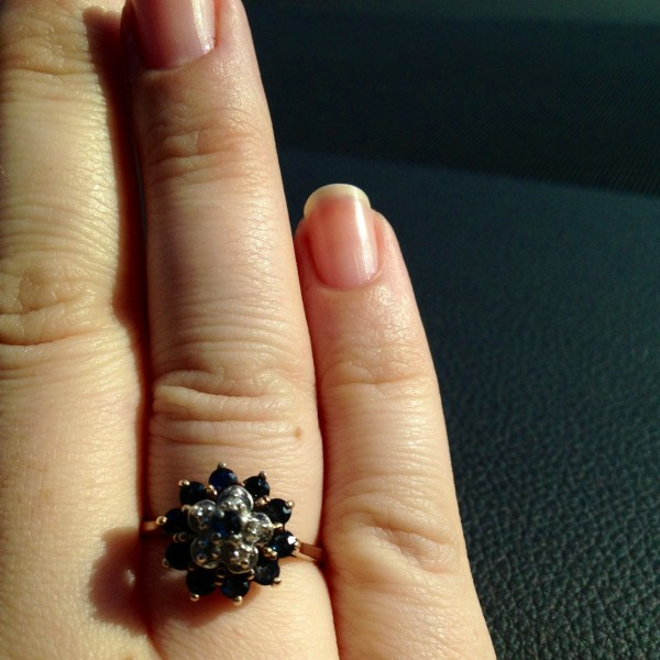 Perfect cuticles how to and vintage sapphire ring - Leopard is a Neutral