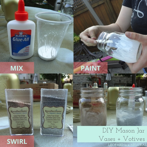 DIY Mason Jar Vases & Votives 3-step How To