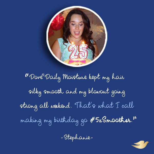 Stephanie Fusco - Dove 5xSmoother Testimonial - Dove Daily Mositure
