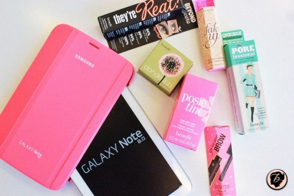 Some Beneselfies prizes! {photo c/o Benefit Canada}