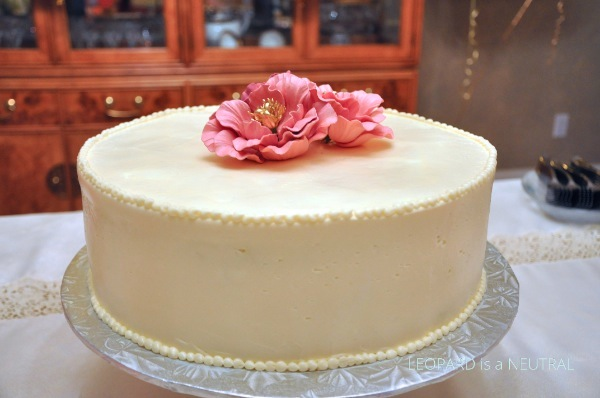 Blush & Gold Engagement Party Inspiration - Bobbette & Belle carrot cake sugar flowers
