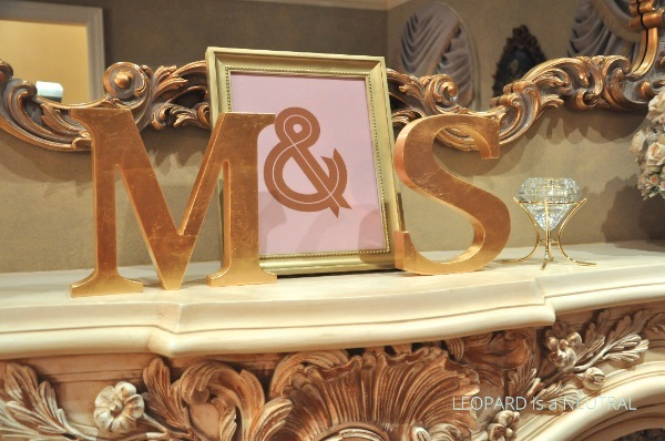 Blush & Gold Engagement Party Inspiration - gold letters and decor