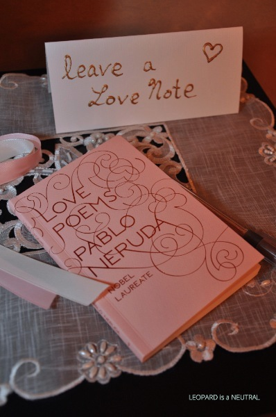 Blush & Gold Engagement Party Inspiration - love poems guest book