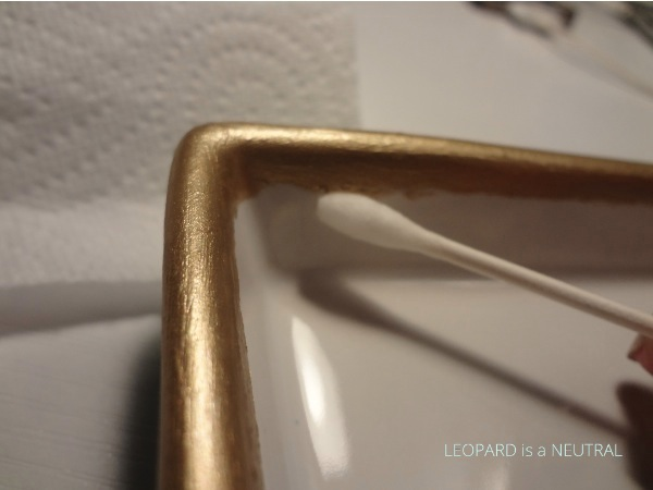 DIY Gold Rimmed Plate - fix