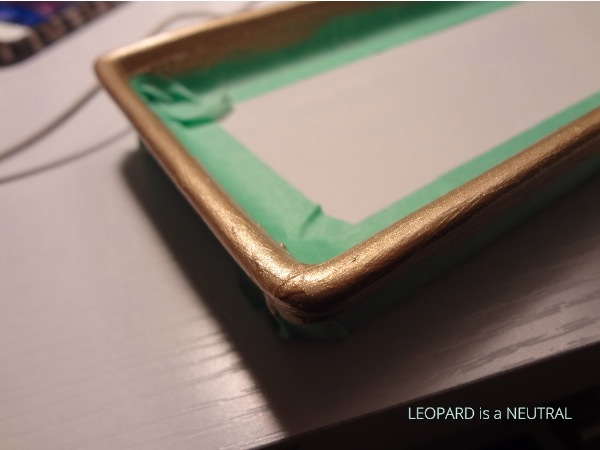 DIY Gold Rimmed Plate - painted