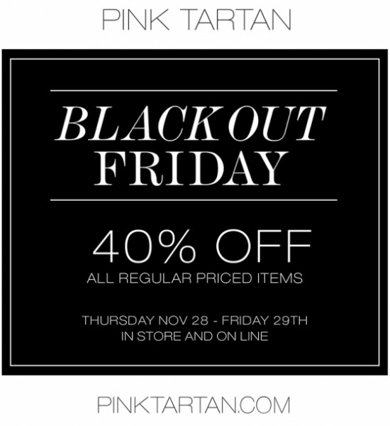 Pink Tartan Blackout Friday