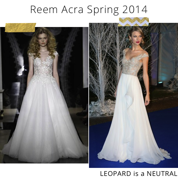 Reem Acra Spring 2014 Bridal & Taylor Swift