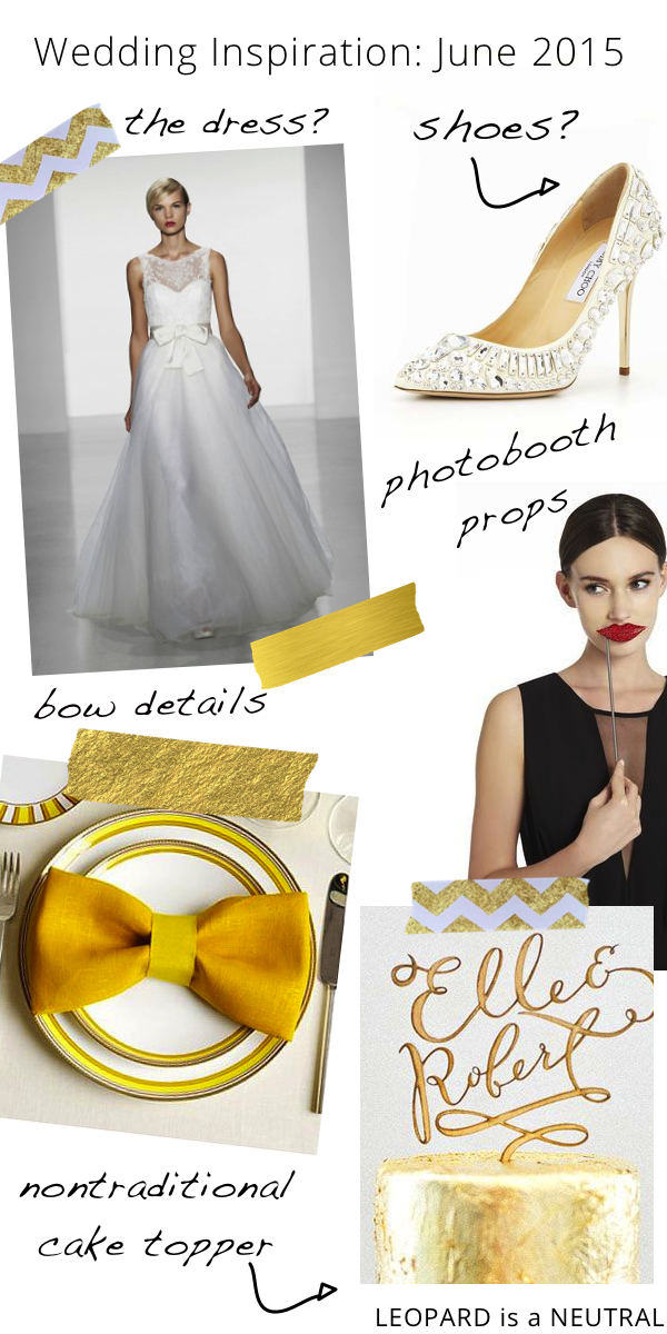 Stephanie Fusco - Wedding Inspiration Board - Gold & Bows