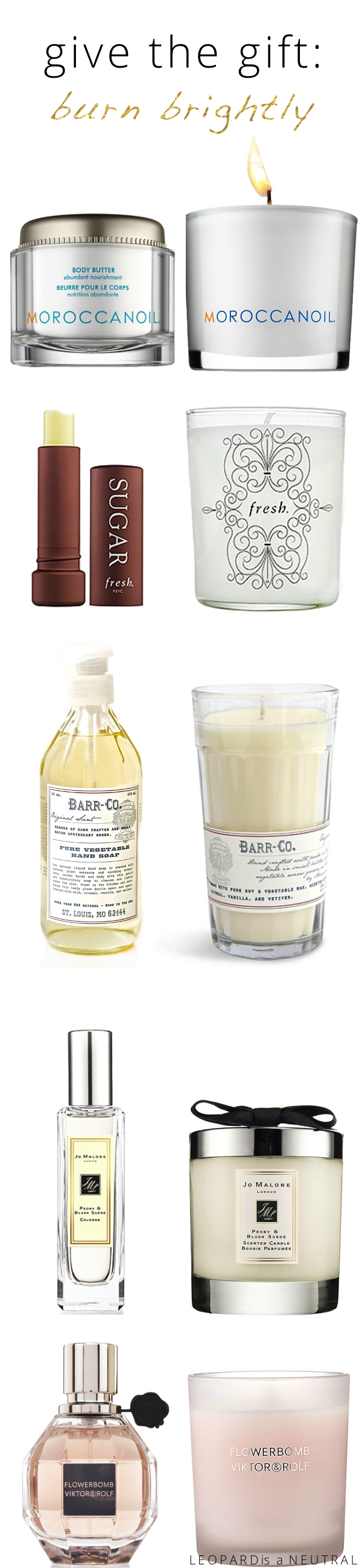 Holiday Gift Guide 2013 - Alternatives to Soap and Perfume