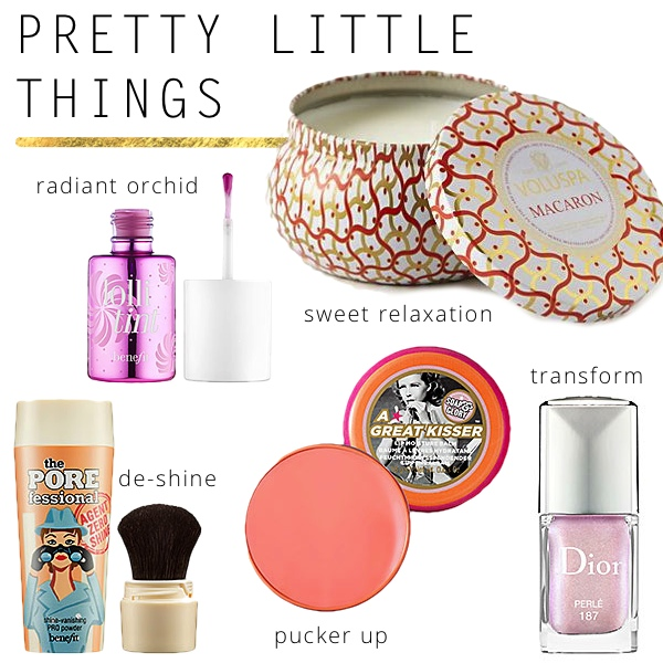Pretty Little Things - soap & glory, Dior Perle, Agent Zero Shine, Voluspa macaron, lollitint