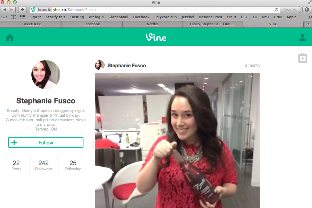 Vine Custom Vanity URL - Stephanie Fusco