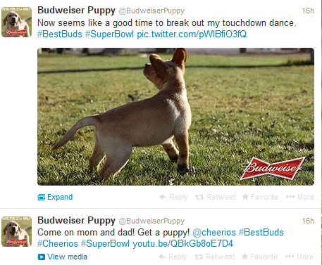 Budweiser Puppy Realtime Tweets