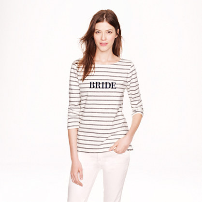 J Crew Bride Sailor Tee Sale
