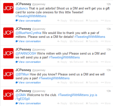 JC Penney - SuperBowl Mitten Giveaways