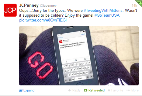 JC Penney - SuperBowl Tweet Response