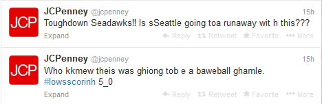 JC Penney - SuperBowl Tweet drunk