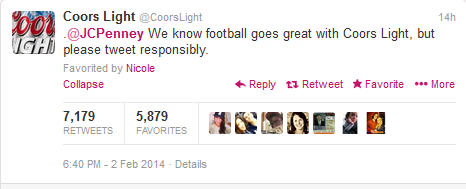 JC Penney - Superbowl Response Coors Light
