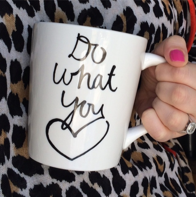 Valentines Day - Do what you love Indigo Mug