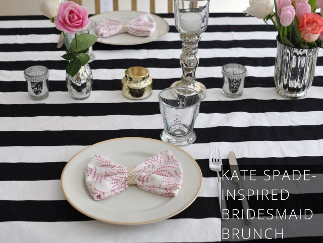 Kate Spade-inspired bridesmaid ask brunch