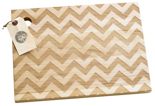 Etsy at Indigo - Chevron Wood Cutting Board