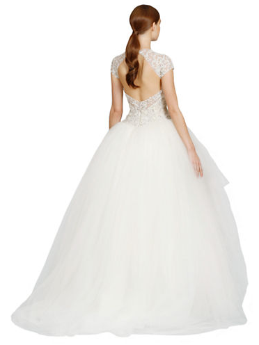 Kleinfeld Canada - Lazaro Dropped Waist Tulle Gown back
