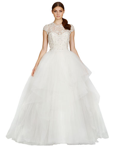 Kleinfeld Canada - Lazaro Dropped Waist Tulle Gown