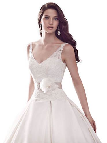 Kleinfeld Canada - Paloma Blanca Lace Bodice A-Line