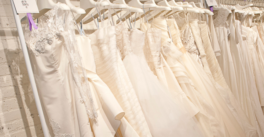 White Toronto wedding dresses