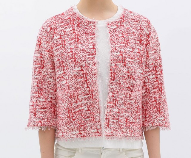 Zara Short Printed Jacket tweed
