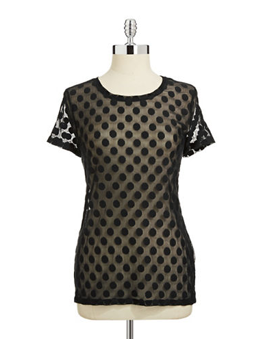 424 Fifth Mesh Dot Tee